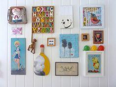 Wall collage by Kari Anne Marstein ART, via Flickr