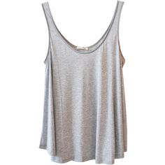 American Vintage Trapeze Tank in Light Grey ($90) ❤ liked on Polyvore featuring tops, shirts, tank tops, tanks, viscose shirt, american vintage, rayon shirts, light gray shirt and viscose top