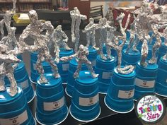 The End of the Year Student Choice Awards is a collection of thirty classroom awards. Students create their Oscars (tin foil sculptures) and then vote for their classmates for the award that fits them most. Teachers then assembly the Oscar like statues and present the awards Hollywood style! Your student will love this activity!
