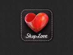 Shiny heart on leather
