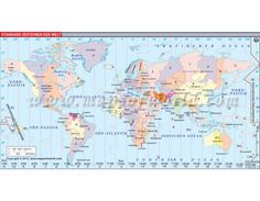 Buy World Time Zone Map (Welt Zeitzonen Karte)