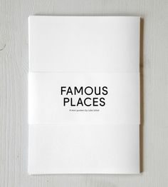 Poster series of famous places. Limited edition, set of 4 mini posters folded in half, black printed on creamy paper with a Risograph, 30x42cm. You can buy this piece here: www.artrebels.com #artrebels #blackandwhite #art