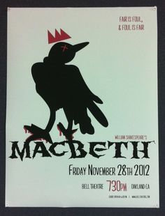 Theatre Poster for Macbeth. #graphicdesign