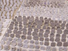 Handmade Clay Stamps- Textural Stamp- Pattern Tool-  for pottery, polymer, PMC…