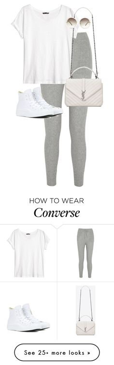 """""""Untitled #10765"""" by alexsrogers on Polyvore featuring T By Alexander Wang, H&M, Yves Saint Laurent, Chloé, Converse, women's clothing, women's fashion, women, female and woman"""