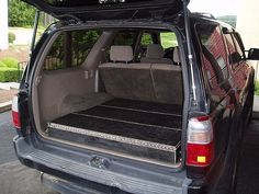 How to build low profile storage boxes in your SUV