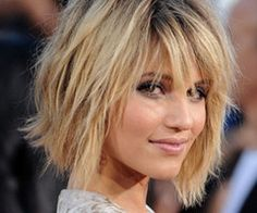 Short hair cut. If I didn't work outside in all kinds of weather, I would so get this haircut.