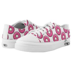Cartoon Pink Donut With Sprinkles Printed Shoes