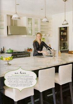 Porchlight Interiors featured in Home Beautiful magazine! Kitchen Living, New Kitchen, Kitchen Ideas, Living Rooms, Hamptons Kitchen, Interior Design Shows, Glass Front Cabinets, Home Renovation, Home Kitchens