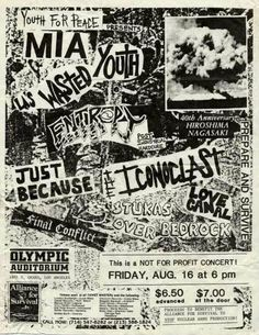 MISSING IN ACTION  (M.I.A.), WASTED YOUTH, ENTROPY, JUST BECAUSE, THE ICONOCLAST, LOVE CANAL, STUKAS OVER BEDROCK and FINAL CONFLICT.
