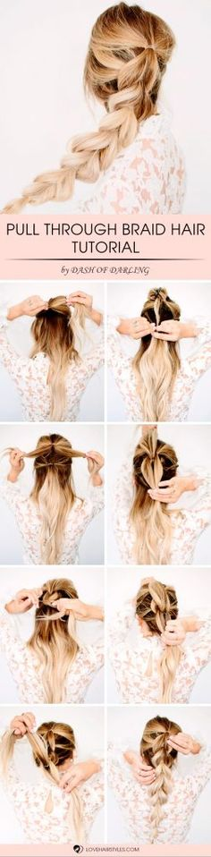 Easy Tutorial For Pull Through Braid Hairstyle
