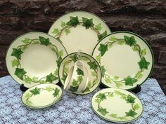 Franciscan IVY Dinnerware . Four 7 piece place settings . Earthenware China . Starter / Replacement Set . Vintage 1948 by ThePinkVintageRose on Etsy
