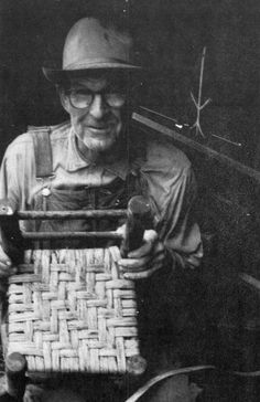 Roy Gage explains how to weave chair bottom