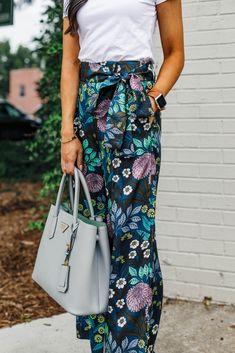 e1474926e67a Blogger Hoang-Kim wears J.Crew x Abigail Borg silk wide leg pants Silk