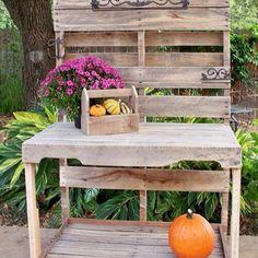 Wooden Pallet Potting Bench                                                                                                                                                                                 More