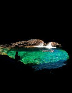Charco azul, en la isla de El Hierro. Islas Canarias. España