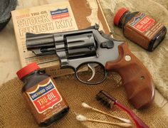 Smith and Wesson Model 19 .357. Really cool vintage picture.