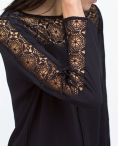 Image 6 of COMBINED GUIPURE LACE TOP from Zara