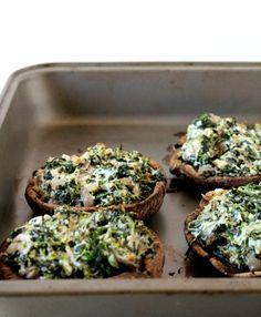 Spinach & Goat Cheese Stuffed Portobellas