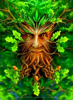 Image of a Mans' Face as an Oak Tree - Generated by Expresso #art #tree #man #Expresso