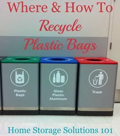 To be plastic grocery bags and storage solutions on pinterest - How to recycle plastic at home ...
