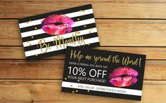 Lipsense Referral Card SeneGence International LipSense