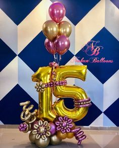 Balloon Bouquet Delivery, Balloon Delivery, Birthday Balloon Decorations, Birthday Balloons, 21st Birthday Bouquet, Barbie Theme Party, Happy Birthday Girls, Number Balloons, Balloon Columns