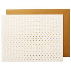 Gold Dots Birthday Card, Rifle Paper Co.