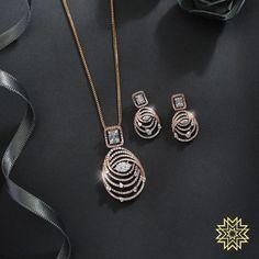 Diamond pendant sets - Irresistable Gold & Dimond Pendant Sets For Minimal Jewellery Lovers! Fancy Jewellery, Gold Jewellery Design, Diamond Jewellery, Diamond Earrings, Jewellery Making, Jewelry Design Earrings, Gold Earrings Designs, Pendant Earrings, Statement Jewelry