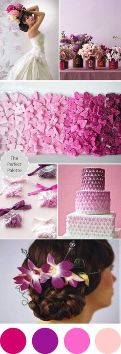 {Wedding Colors I Love}: Shades of Pink + Purple http://www.theperfectpalette.com/2012/09/wedding-colors-i-love-shades-of-pink.html