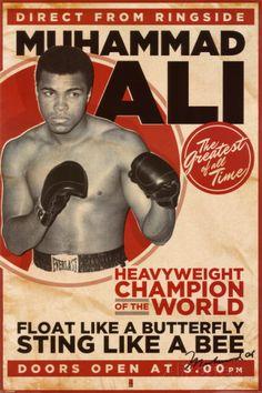 Mohamed Ali vintage Affiche sur AllPosters.fr