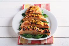 Orange Glazed Salmon over Sauteed Spinach recipe made with canola oil