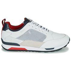 BOSS PARKOURN RUNN NET Blanc / Marine / Rouge - Baskets Homme Spartoo - Iziva.com Hugo Boss, Basket Mode, Sport, Sneakers Nike, Fashion, Mens Shoes Uk, Man Women, Red, Nike Tennis