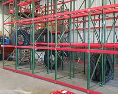 Tire Storage Shelving for Gas Station and Truck Service Center || NationWide Shelving || 801-328-8788
