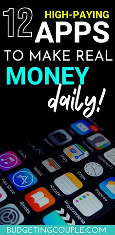 12 High Paying Apps to Make (real) Money Daily with your Phone – Make Money Pins Make Real Money, Make Money Fast, Way To Make Money, Make Money Online, Free Money, Money Saving Challenge, Money Saving Tips, Money Hacks, Apps That Pay You