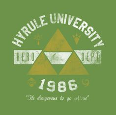 #Nintendo: Legend of #Zelda university t-shirt.