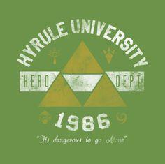 #Nintendo: Legend of #Zelda university t-shirt.