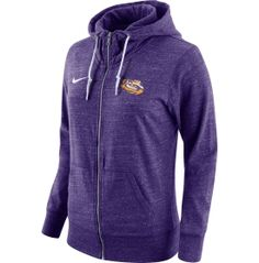 Nike Women's LSU Tigers Heathered Purple Tailgate Gym Vintage Full-Zip Hoodie | DICK'S Sporting Goods