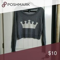 Cute sweater crop Super soft & comfy. Rue 21 Tops Crop Tops