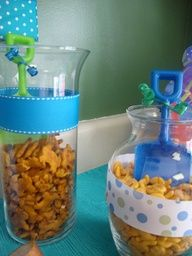 Under the Sea 1st Birthday party *pic overload!* - CafeMom    Love the sand shovel idea....
