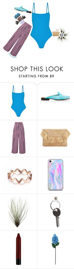 """""""Swim"""" by felice-falk ❤ liked on Polyvore featuring Solid & Striped, Stubbs & Wootton, Tome, MANGO, Maison Margiela, NYX, Laura Cole and Aesop"""
