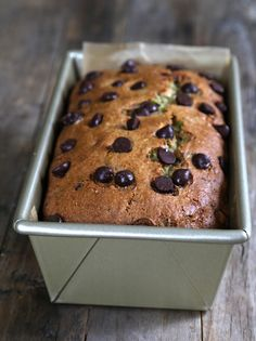 Get this free recipe for gluten free zucchini bread - made here with chocolate chips - and you'll never make another kind with your summer zucchini bounty!