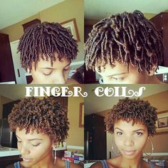 Best Finger coils ideas on Coiling Natural Hair, Natural Hair Twa, Natural Hair Growth, Natural Hair Journey, Natural Hair Styles, Short Hair Styles, Natural Beauty, Curly Afro Hair, 4b Hair