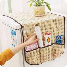 tissu de stockage réfrigérateur de table de couverture facilité d'utilisation (couleurs aléatoires)
