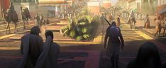 View an image titled 'Alexandria Entrance Art' in our Assassin's Creed Origins art gallery featuring official character designs, concept art, and promo pictures. Concept Art World, Environment Concept Art, Environment Design, Assassins Creed Empire, Assassins Creed Origins, Paul Gerrard, Into The Badlands, Classical Art, Ancient Architecture