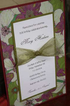 Handmade Floral Birthday Invitations - layout