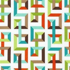 Fancy Flight Labyrinth in Garden - GOTS certified organic cotton fabric by Nancy Mims Jellyroll Quilts, Scrappy Quilts, Strip Quilts, Quilt Blocks, Quilting Projects, Quilting Designs, Quilting Ideas, Quilt Modernen, Contemporary Quilts