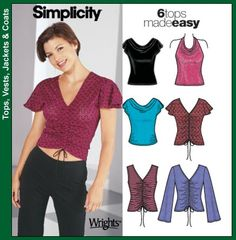 * Simplicity5759   6 Tops Made Easy