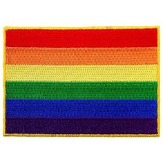 LGBT Rainbow Flag Embroidered Patch Iron-On Gay Rights Emblem ($3.99) ❤ liked on Polyvore featuring home, home improvement and patches