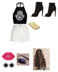 """""""concerts"""" by maliah0811 ❤ liked on Polyvore featuring River Island, Lime Crime and Goldgenie"""